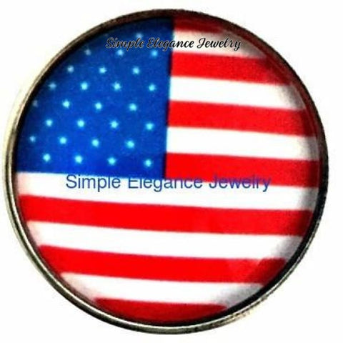 American Flag Snap 20mm for Snap Jewelry - Snap Jewelry