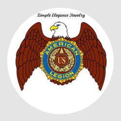 American Legion Eagle Snap Charm 20mm - Snap Jewelry