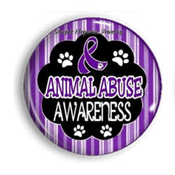 Animal Abuse Awareness Snap Charm 20mm for Snap Charm Jewelry - Snap Jewelry