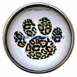 Animal Paw Leopard Print Snap 20mm - Snap Jewelry