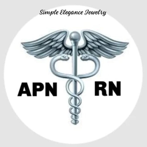 APN-RN Nurse Snap 20mm for Snap Jewelry - Snap Jewelry