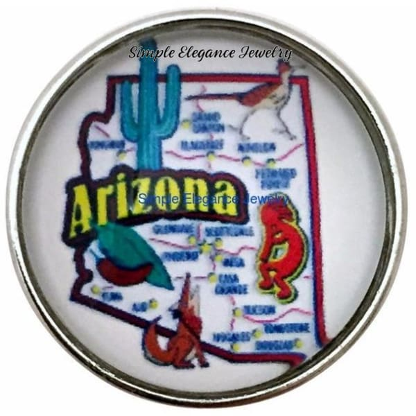 Arizona State Snap 20mm for Snap Charm Jewelry - Snap Jewelry