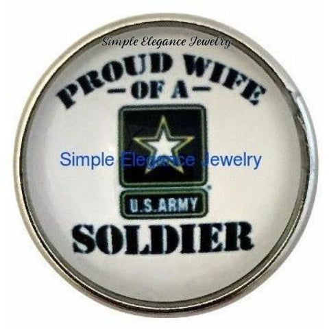 Army Soldiers Wife Snap 20mm - Snap Jewelry