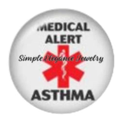 Asthma Medical Snap Charm-20mm for Snap Jewelry - Snap Jewelry