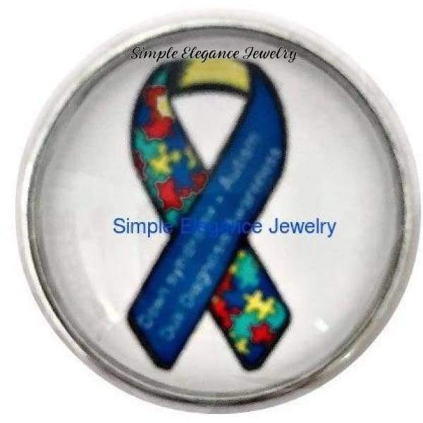 Autism-Downs Syndrome Dual Diagnosis Snap 20mm for Snap Charm Jewelry (2049) - Snap Jewelry