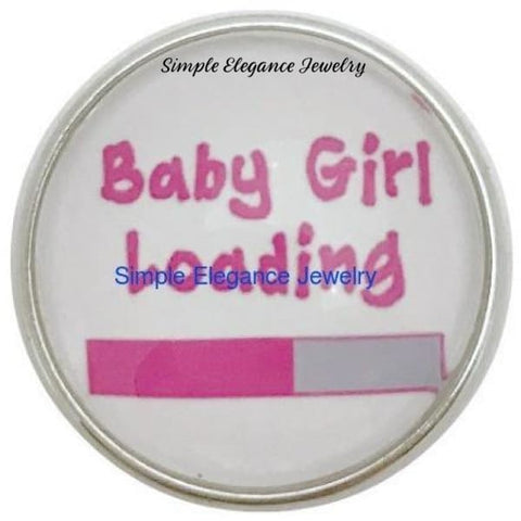 Baby Girl Loading Snap Charm 20mm for Snap Jewelry - Snap Jewelry