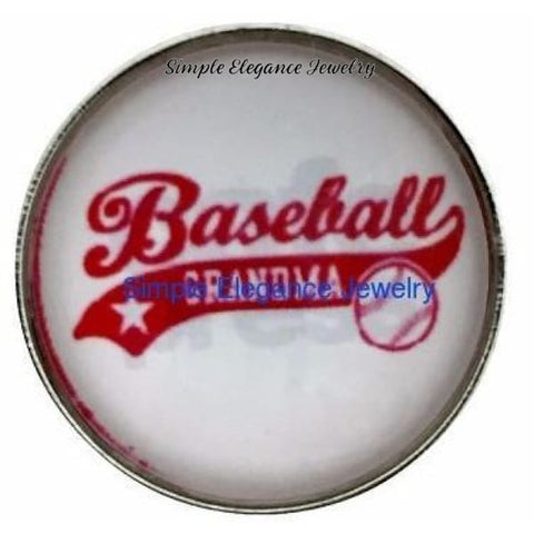 Baseball Grandma Snap 20mm - Snap Jewelry