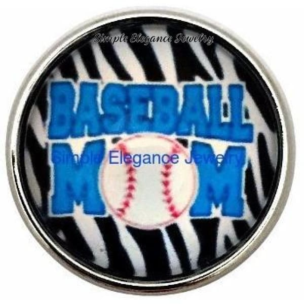 Baseball Mom Snap 20mm - Snap Jewelry