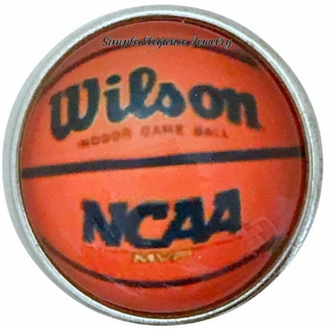 Basketball Snap Charm 20mm for Snap Jewelry - Snap Jewelry