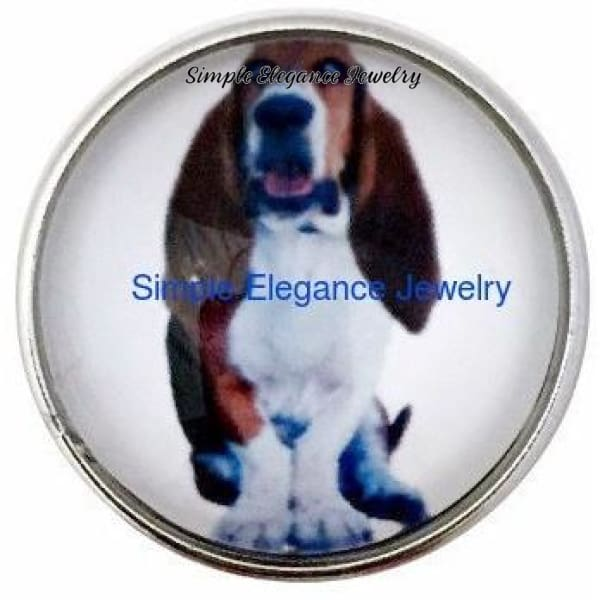 Basset Hound Dog Snap 20mm - Snap Jewelry