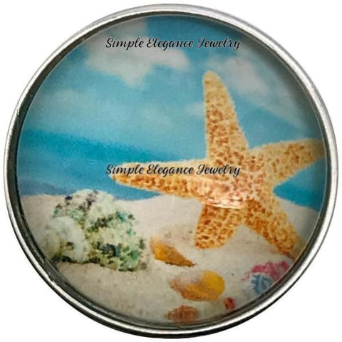 Beach-Starfish Snap Charm 20mm for Snap Jewelry - Snap Jewelry