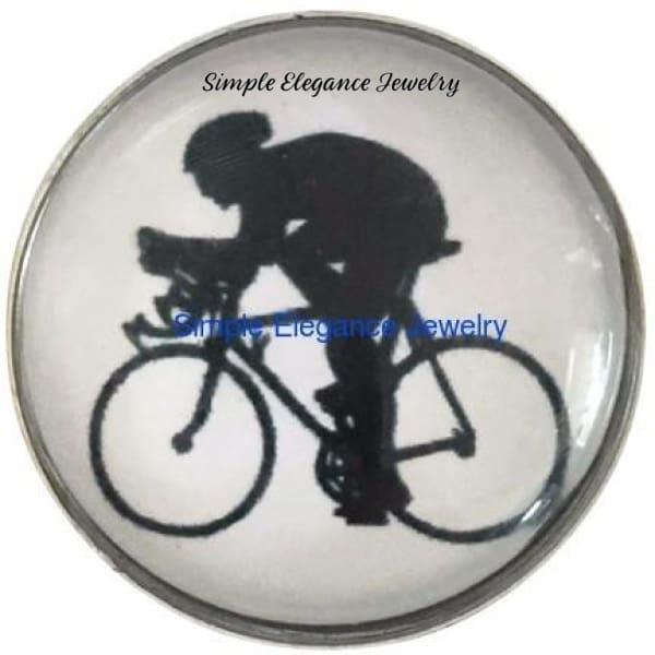 Bicyclist Snap 20mm for Snap Jewelry - Snap Jewelry