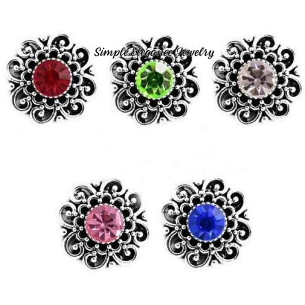 Birthstone Filigree Snap 20mm Buttons - Peridot - Snap Jewelry