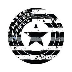 Black Flag Star Snap Charm 20mm - Snap Jewelry