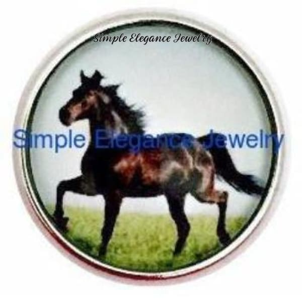 Black Horse Snap 20mm for Snap Jewelry - Snap Jewelry