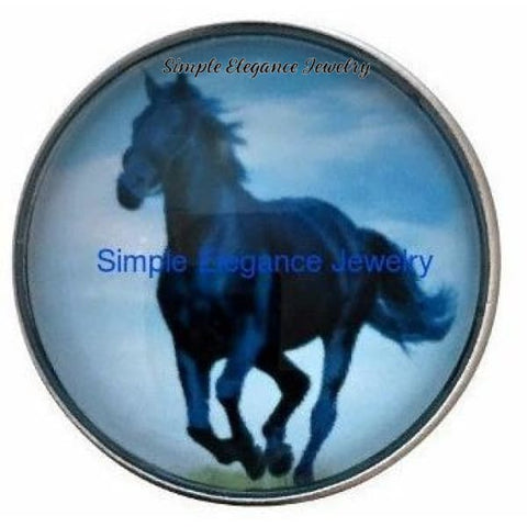 Black Stallion Horse Snap 20mm - Snap Jewelry