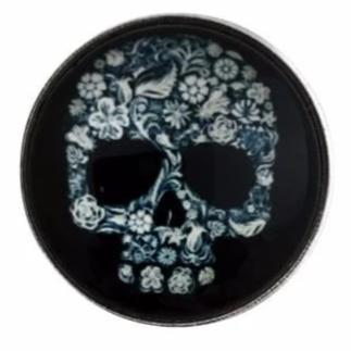 Black Sugar Skull Snap 20mm for Snap Charms - Snap Jewelry