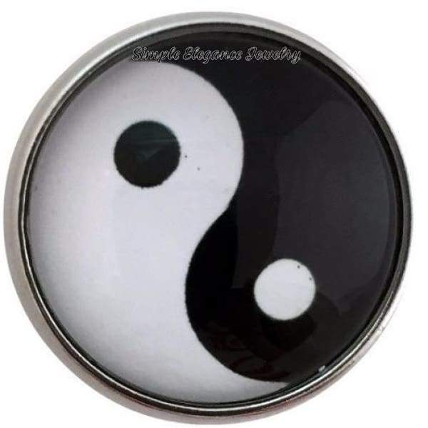 Black-White Yin Yang Snap Charm 20mm for Snap Jewelry - Snap Jewelry