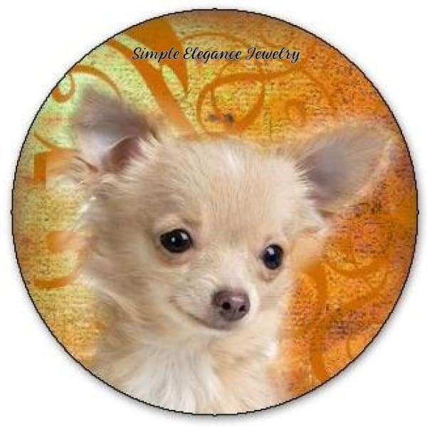 Blonde Chihuahua Dog Snap Charm 20mm - Snap Jewelry