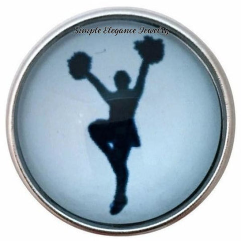Blue Cheerleader Snap 20mm for Snap Jewelry - Snap Jewelry