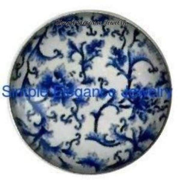 Blue Floral Snap 18mm for Snap Jewelry - Snap Jewelry