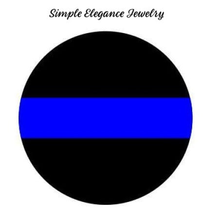 Blue Line Police Snap 20mm for Snap Charm Jewelry - Snap Jewelry