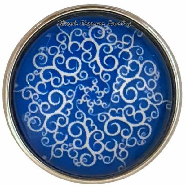 Blue Snowflake Collection Snap Charm 20mm (Choice of 12) - 105 - Snap Jewelry