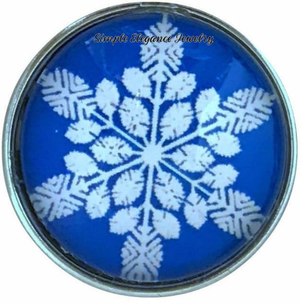 Blue Snowflake Collection Snap Charm 20mm (Choice of 12) - 109 - Snap Jewelry