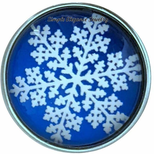 Blue Snowflake Collection Snap Charm 20mm (Choice of 12) - 110 - Snap Jewelry