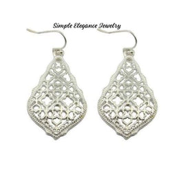 Bohemian Filigree Earrings - Silver - Earrings