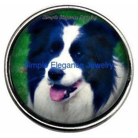 Border Collie Dog 20mm Snap for Snap Jewelry - Snap Jewelry