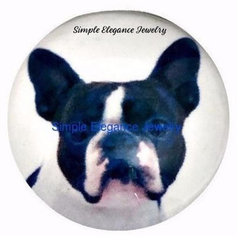 Boston Terrier Dog Snap 20mm - Snap Jewelry