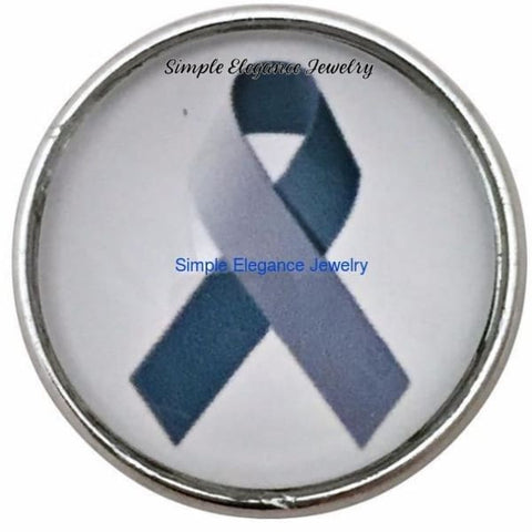 Brain Cancer Gray Ribbon Snap 20mm for Snap Charm Jewelry - Snap Jewelry