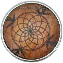 Brown Dream Catcher Snap 20mm for Snap Jewelry - Snap Jewelry