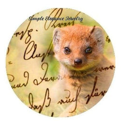 Brown Ferret Snap Charm 20mm - Snap Jewelry