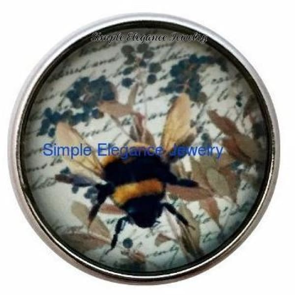 Bumble Bee Snap 20mm - Snap Jewelry
