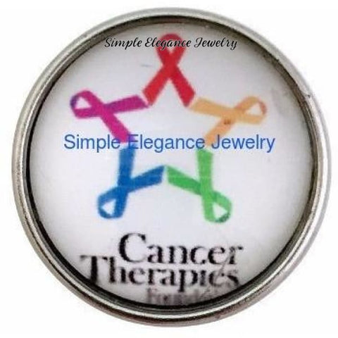 Cancers Ribbon Cause Snap 20mm - Snap Jewelry