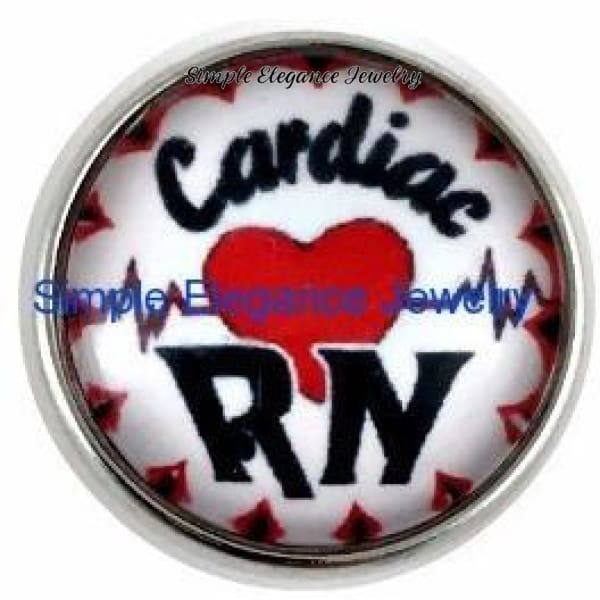 Cardiac RN Snap Charm 20mm - Snap Jewelry