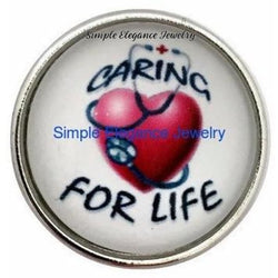 Caring For Life Nurse Snap 20mm for Snap Charm Jewelry - Snap Jewelry