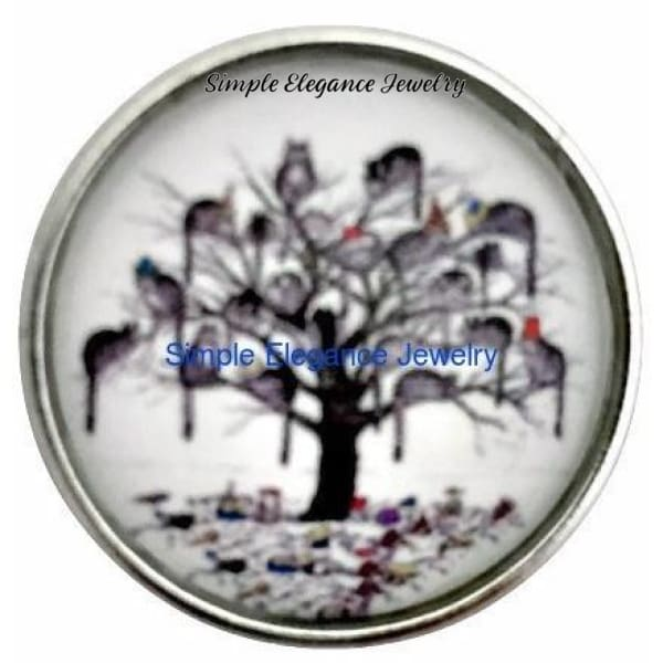 Cat Tree of Life Snap Charm 20mm for Snap Jewelry - Snap Jewelry