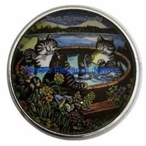 Cats In The Hot Tub Snap Charm 20mm for Snap Jewelry - Snap Jewelry