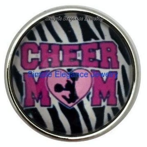 Cheer Mom Snap Charm 20mm - Snap Jewelry