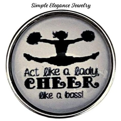 Cheerleading Snap Charm 20mm - Snap Jewelry