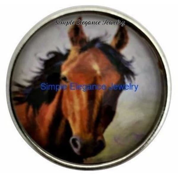 Chestnut Horse Snap 20mm for Snap Charms - Snap Jewelry