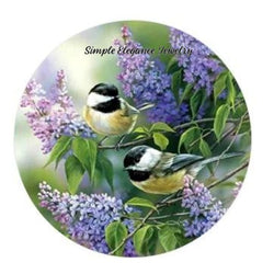 Chick-a Dee Bird Snap Charm 20mm or 12mm MINI - 20mm Snap - Snap Jewelry