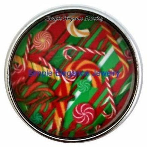 Christmas Candy Cane 20mm - Snap Jewelry