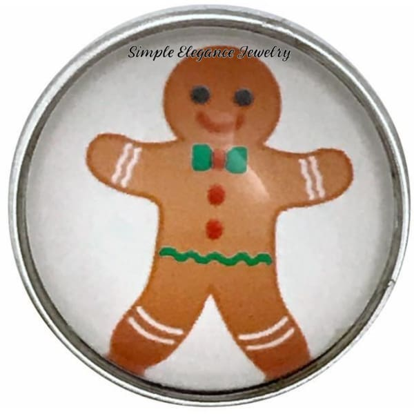 Christmas Gingerbread Man Snap 20mm for Snap Jewelry - Snap Jewelry