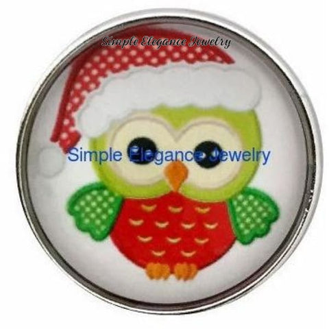 Christmas Owl Snap 20mm for Snap Charm Jewelry - Snap Jewelry