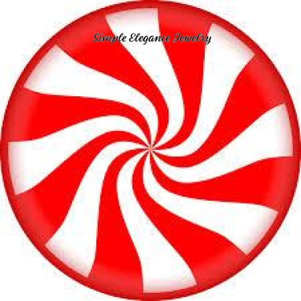 Christmas Peppermint Candy Snap 20mm for Snap Jewelry - Snap Jewelry