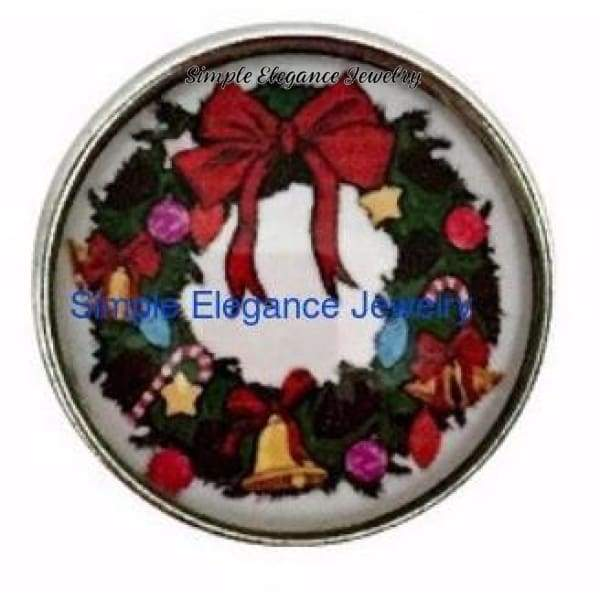 Christmas Wreath Snap 20mm for Snap Jewelry - Snap Jewelry